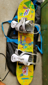 Children's snowboard with boots