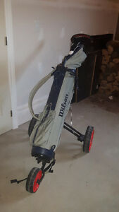 Golf Clubs with bag and pull cart