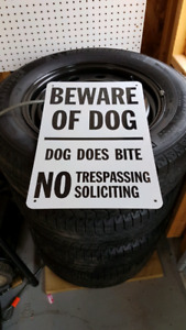 Beware of Dog Dog Does Bites No Tresspassing Commercial Signs.