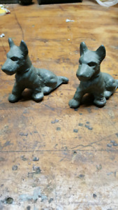 West Terrier Ashtray Dogs Antiques