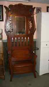 Antique Hall Seat and Umbrella Holder