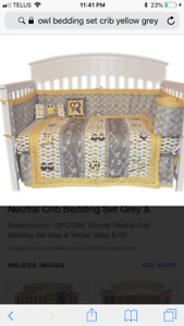 Crib Bedding Owls