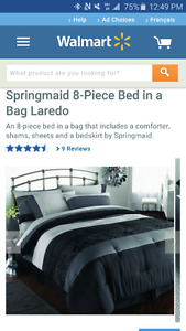 King sized bed in a bag