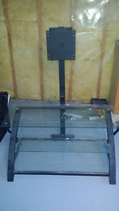 Glass and Steel TV stand $45.00