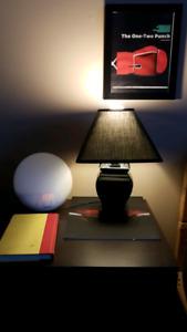Petite lampe noir style classique