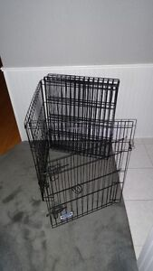 Folding Pet Pen - Black Metal Wire, 8 Sections of 24 x 30 Inches