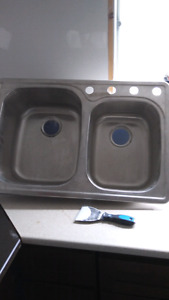 Brand New Stainless Double Sink. Heavy-Duty