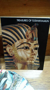 4 Ancient Egypt coffee table books, picture books and 1 Fandex