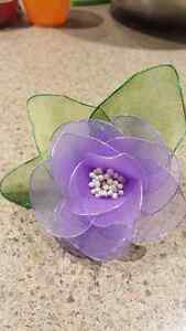 Brand new Hand made Nylon flower brooches with pin Kitchener / Waterloo Kitchener Area image 6