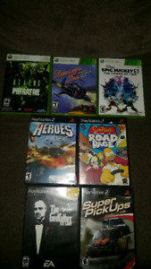 XBOX 360 & PS2 GAMES
