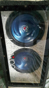 Two 12'' Kenwood Subs with Dual Ported Box