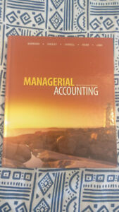 Managerial Accounting Textbook - Garrison 9th Ed