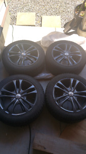 4 goodyear m+s on rims