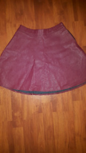 Burgundy Abercrombie & Fitch Circle Skirt. New Condition!