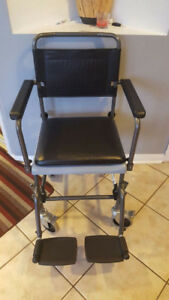 Commode wheelchair with seat