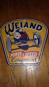 Weiand Power and Speed Equipment Sign
