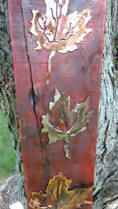 Rustic plasma cut copper and steel maple leafs on maple boards Cornwall Ontario image 7