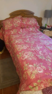 Twin XL Bed w/ Box Spring & Frame