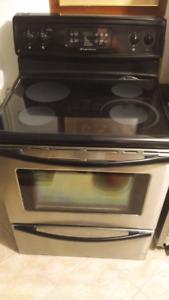 Frigidiare stainless electric range / stove and dishwasher set