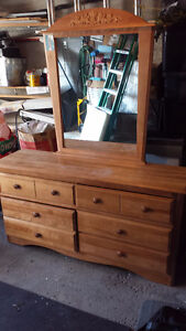Bedroom Dresser w/Mirror & 2 End Tables