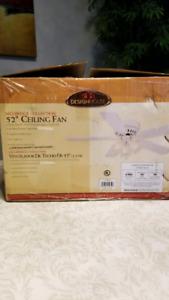 "52"" Ceiling Fan - Brand new on box"