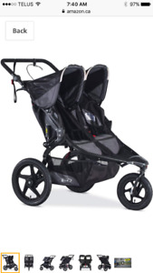 **Looking for** BOB double stroller with car seat adaptor
