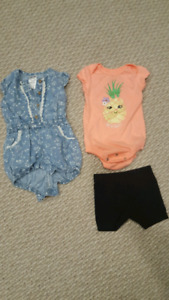 6 to 12 month pineapple outfit denim jumper is gone