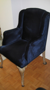 Wing Chair in Navy Color  - New