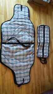 Western saddle and headstall carrying bag