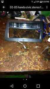 2001-2005 Honda Civic faceplate and wiring harness