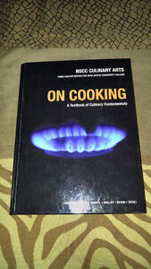 On Cooking book NSCC culinary arts + Study Guide