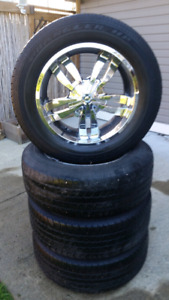 """20"""" Aluminum Wheels and Goodyear Tires for Chevy/Ford"""