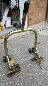 T-rex gold galvanized motorcycle rear stand