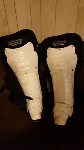 McKinney Box Lacrosse goalie leg guards