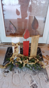 Wooden Candle display for christmas