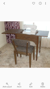 desk and chair for sewing machine