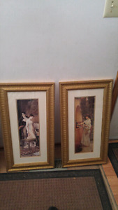 Two beautiful framed prints for sale