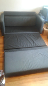 Flip out couch.