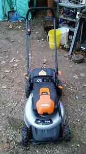 WORX Cordless Lawnmower Like New Cambridge Kitchener Area image 2