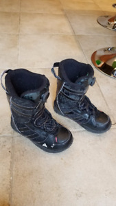 kids Size 6 K2 Vandal Snowboard Boots - double boa, like new