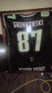 Monster Energy Rob Gronkowski jersey signed