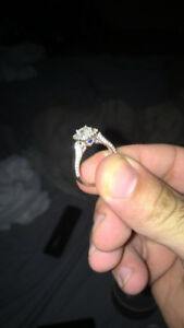 selling white gold 14k engagement/wedding ring