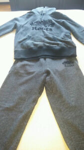 Adidas track suit and Roots track suit