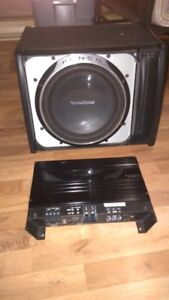 "12"" ROCKFORD FOSGATE P3 SUBWOOFER WITH MATCHING AMP 4 SALE"
