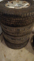 """GM 6 x 5.5"""" wheels with 265/70r17 tires"""