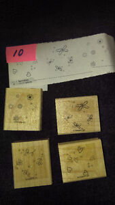 "Stampin Up Wood Stamps ""Sprinkles"" Scrapbooking Card Making NEW"