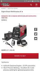 Lincoln Ranger 305G with LN25 wire feed welder