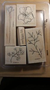 "Stampin Up Stamps ""EMBRACE LIFE"" Scrapbooking or Card Making"