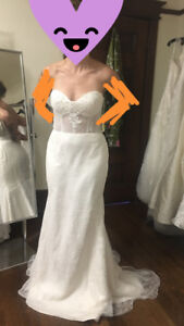 Sweetheart-top, lace wedding dress for sale