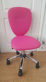 Pink swirl office chair